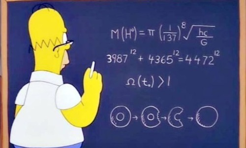 Homer And His (Almost) God Particle